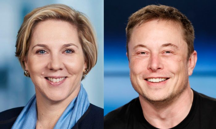 Robyn Denholm and Elon Musk.    (Reuters/Files)