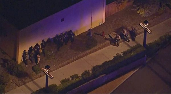 police move in the vicinity of the mass shooting in Thousand Oaks