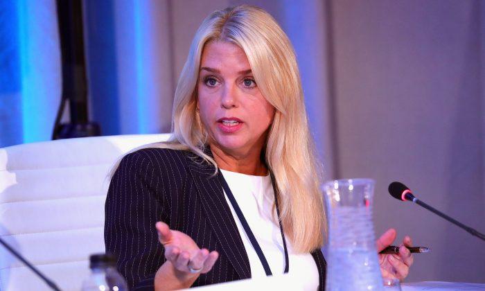 Pam Bondi, Florida attorney general, in New York on Sept. 19, 2017. (Paul Morigi/Getty Images for Concordia Summit)