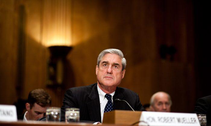 Then FBI-Director Robert Mueller testifies at a hearing on Capitol Hill on Sept. 13, 2011. (Brendan Hoffman/Getty Images)