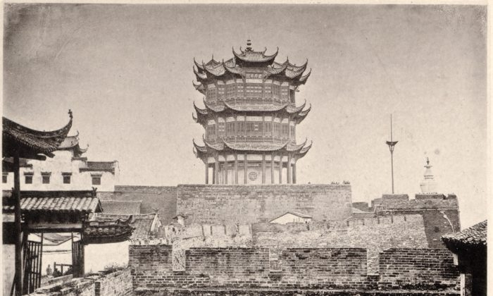 "The Yellow Crane Tower in 1871, from ""China and Its People"" by photographer  John Thomson. (Public Domain)"