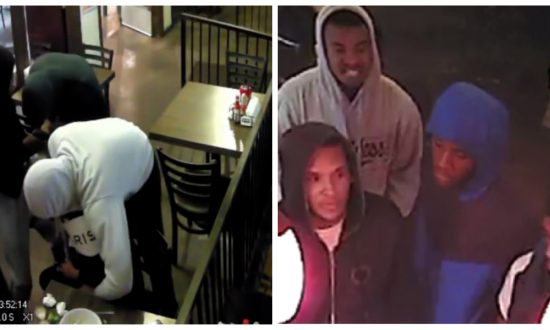 Camera Captured 5 Suspects Robbing a Man Sitting in a Restaurant