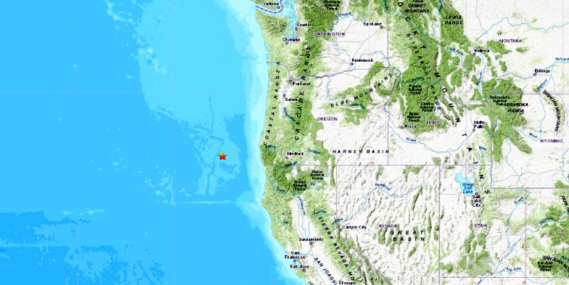 5 Earthquakes Hit Off The Coast Of Oregon Usgs