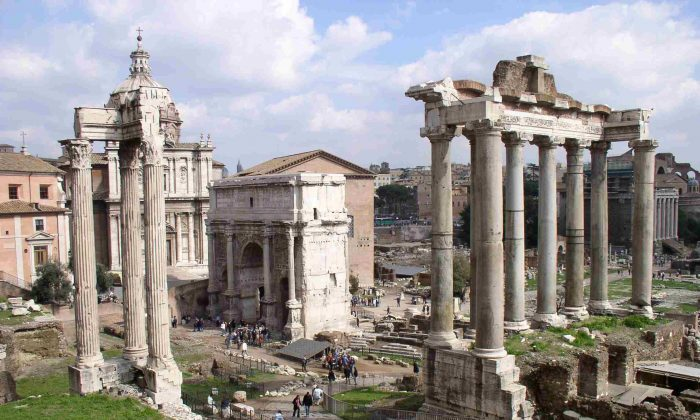 File photo of the remains of the Roman Forum in Rome, Italy. The U.S. Constitution owes much to Polybius, a Greek historian who praised Rome's constitution and explained how and why it worked. (Carla Tavares/Wikimedia Commons/CC BY-SA 3.0)