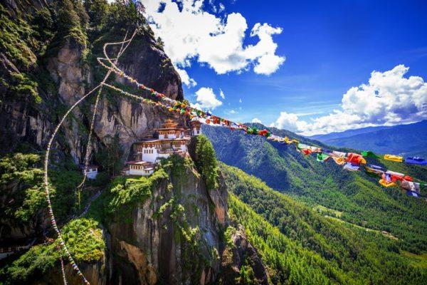 Taktshang Goemba, Tiger nest monastery, in Bhutan