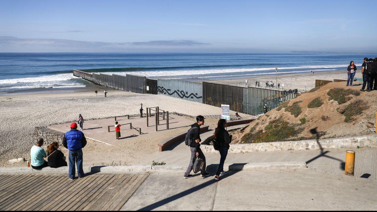 The U.S.-Mexico border fence in Tijuana