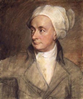 Pastel portrait of William Cowper, 1792, by George Romney. (National Portrait Gallery, London)
