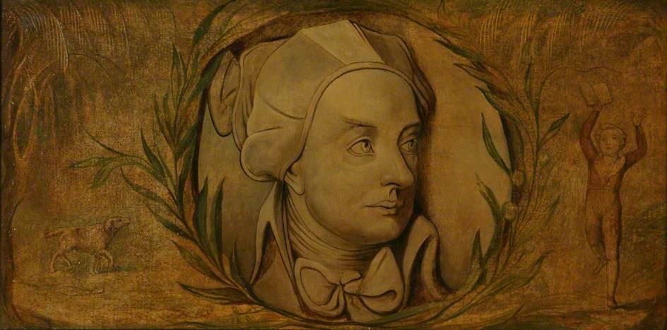 William Blake illustration of William Cowper