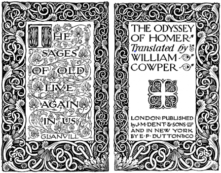 covers of Cowpers Odyssey translation
