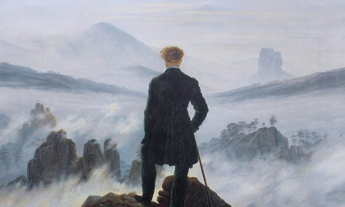 A detail from Casper David Friedrich's 'Wanderer Above the Sea of Fog.' (Public Domain)