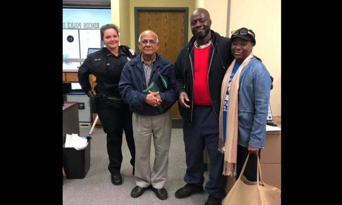 A couple found a bag full of money and immediately turned it in to police in Rincon, Ga., on Nov. 16, 2018. (Rincon Police Department)