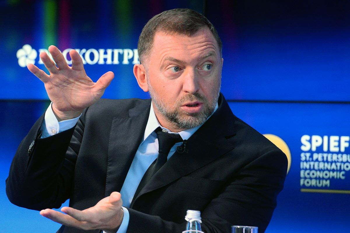 Russia billionaire at a conference in St. Petersburgh