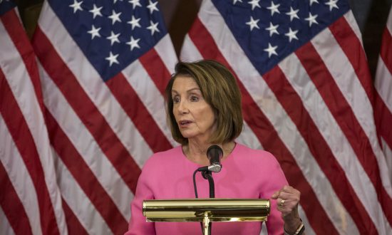 Nancy Pelosi (D-Calif.) as House Minority Leader at the Capitol Building in Washington D.C. on Nov. 7, 2018. (Zach Gibson/Getty Images)