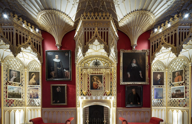Bottom right of fireplace,the portrait of the second Baron of Sheffield, in the Gallery. (Kilian O'Sullivan)