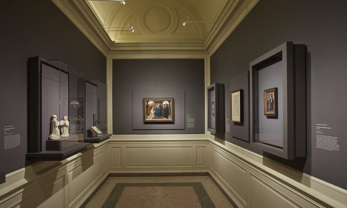 """""""The Charterhouse of Bruges: Jan van Eyck, Petrus Christus, and Jan Vos"""" exhibition in the Chamber Gallery of The Frick Collection is on view until Jan. 13, 2019. (The Frick Collection)"""
