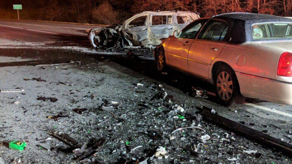 Driver Dead, 5 Injured, in Wrong-Way Interstate Crash in