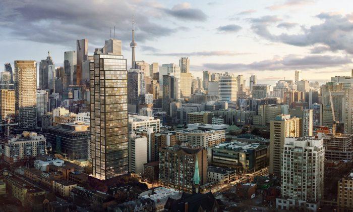 Rendering of PRIME 's 45-storey modern tower. (Courtesy of CentreCourt Developments)