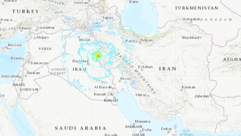 Magnitude 6.3 natural disaster  strikes western Iran
