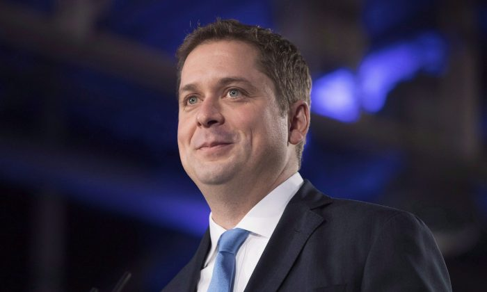 Federal Conservative Leader Andrew Scheer addresses the Ontario PC Convention in Toronto, on Nov. 17, 2018. (The Canadian Press/Chris Young)