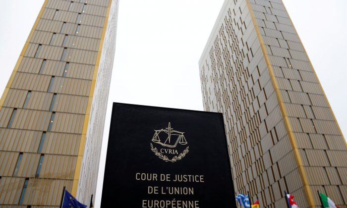 The towers of the European Court of Justice in Luxembourg on Jan. 26, 2017. (Reuters/Francois Lenoir)