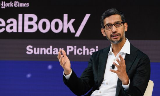 Sundar Pichai, CEO of Google Inc., in New York City on Nov. 1, 2018. (Michael Cohen/Getty Images for The New York Times)