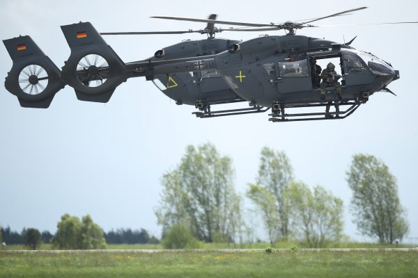 Two Airbus H145M LUH helicopters of the Bundeswehr