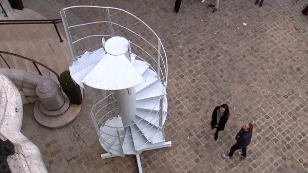 original staircase of Eiffel Tower