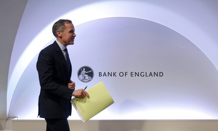 Governor of the Bank of England Mark Carney at the Bank of England in London on Nov. 28, 2018. (Daniel Leal-Olivas - WPA Pool/Getty Images)