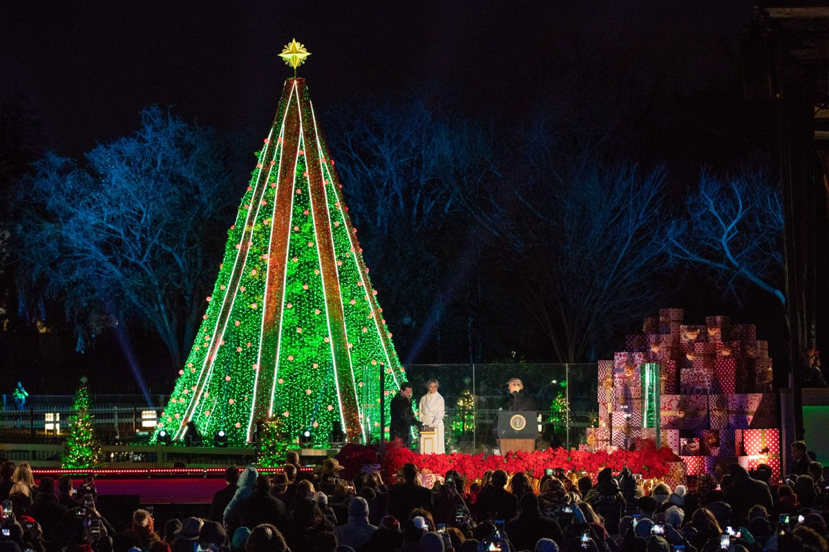 Trump and First Lady Attend National Christmas Tree Lighting