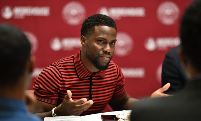 Kevin Hart during the Night School Atlanta University Center press junket at Morehouse College in Atlanta, Ga., on Sept. 11, 2018. (Paras Griffin/Getty Images for Universal Pictures)