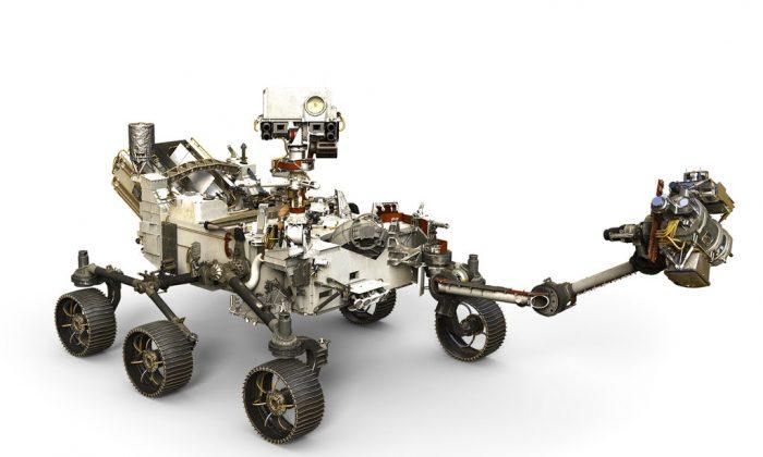 NASA's InSight spacecraft touched down on Mars on Nov. 26, 2018. (NASA via AP)
