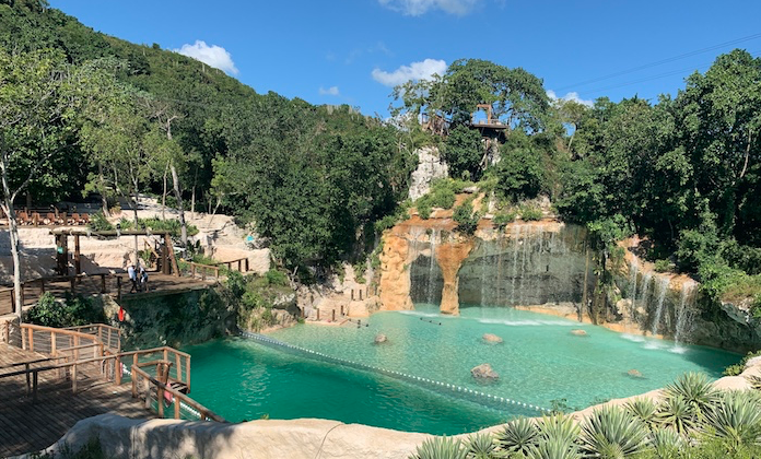 The Saltos Azules pool at Scape Park, a natural adventure theme park at Cap Cana. (Dropbox)