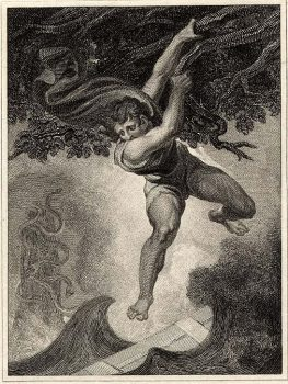 Odysseus hanging from fig tree