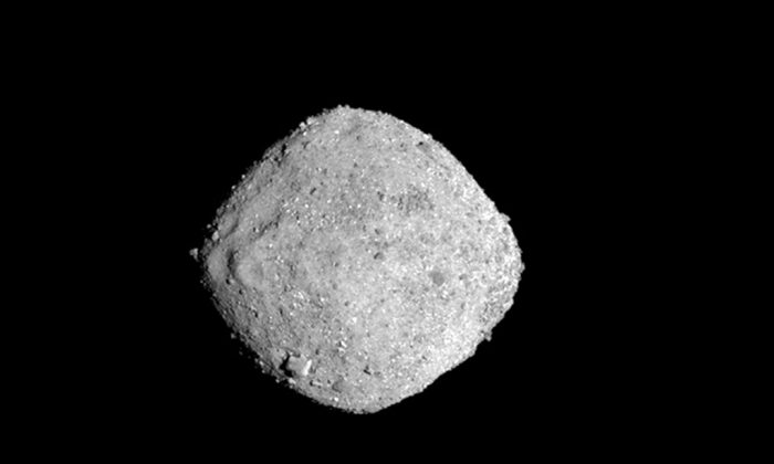 NASA shows the asteroid Bennu on Nov. 16, 2018.  (NASA/Goddard/University of Arizona via AP)