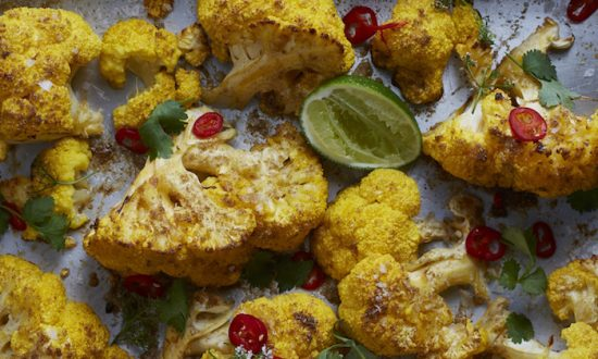 Coconut roasted cauliflower. (Seamus Mullen)