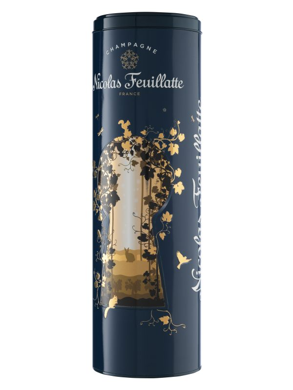"""Champagne Nicolas Feuillatte Brut Reserve """"Wonderland Tin"""""""