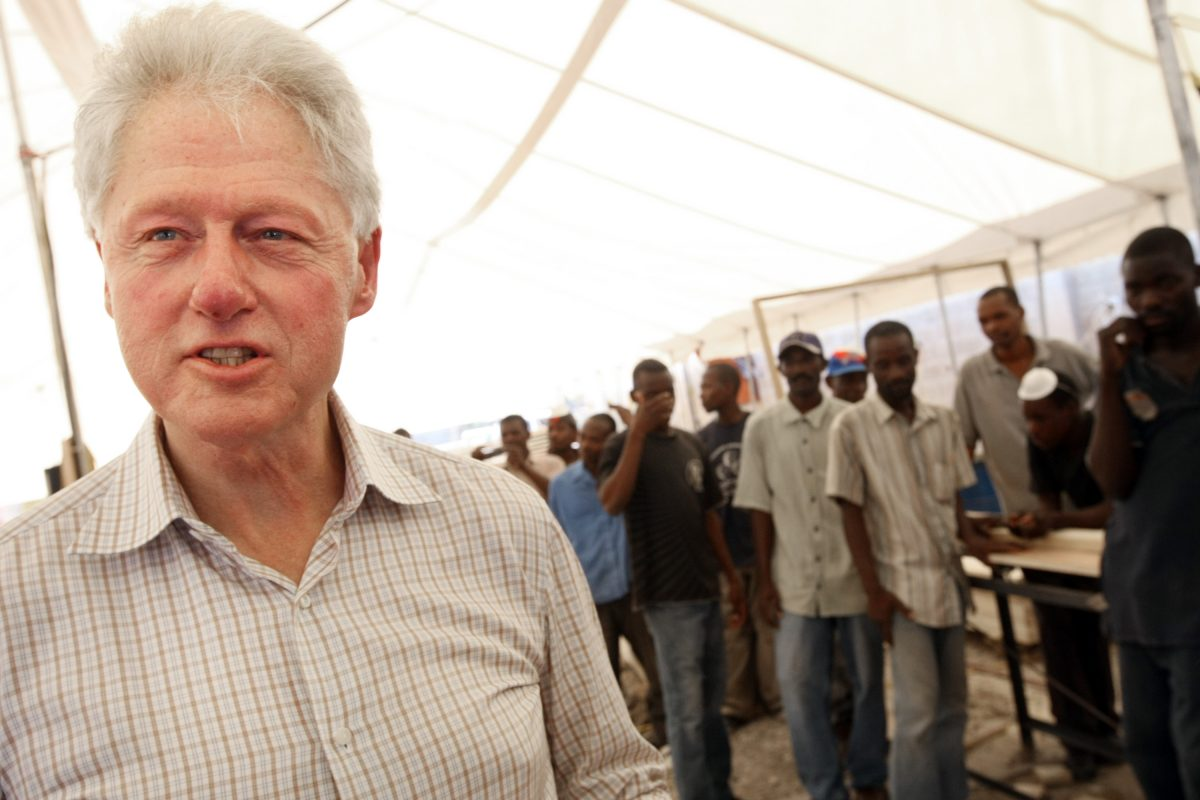 Former President Bill Clinton in Port-au-Prince, Haiti, on March 22, 2010. (Sophia Paris/MINUSTAH via Getty Images)