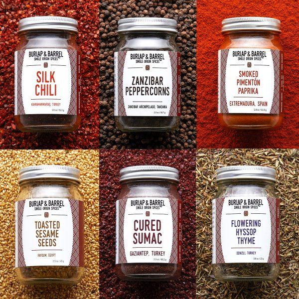 Burlap & Barrel spices Fundamentals Collection