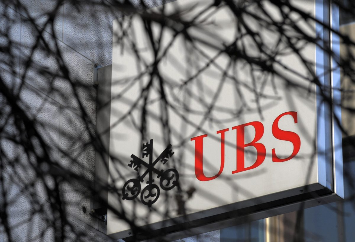 A logo of the Swiss banking giant UBS in Zurich on Feb. 14, 2008. (FABRICE COFFRINI/AFP/Getty Images)
