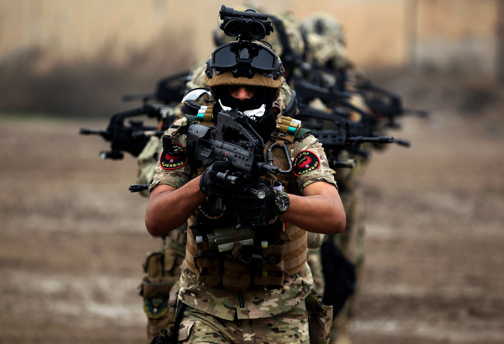 Iraqi counter-terrorism forces train
