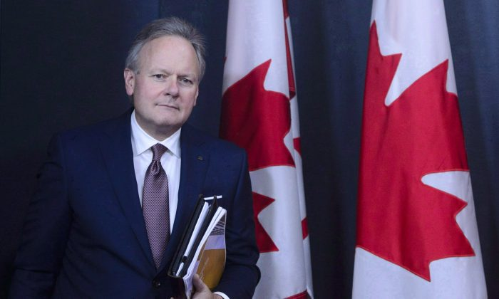 Stephen Poloz, Governor of the Bank of Canada, at a press conference in Ottawa on Oct. 24, 2018. Canada's central bank held its overnight rate target at 1.75 percent on Dec. 5. (The Canadian Press/Sean Kilpatrick)