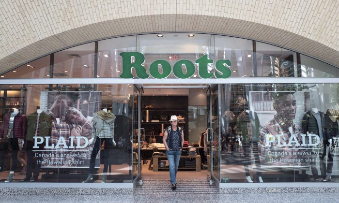 The storefront of a Roots location in Toronto is pictured in this file photo. (The Canadian Press/Chris Young)