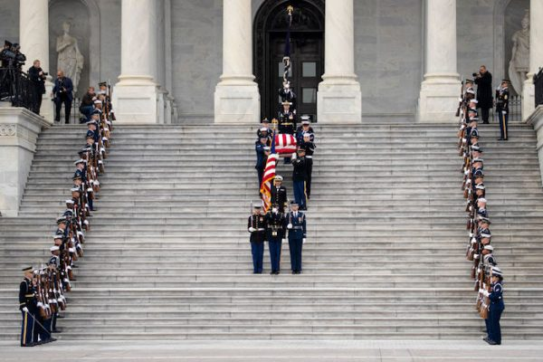 President George H.W. Bush Lies In State At U.S. Capitol