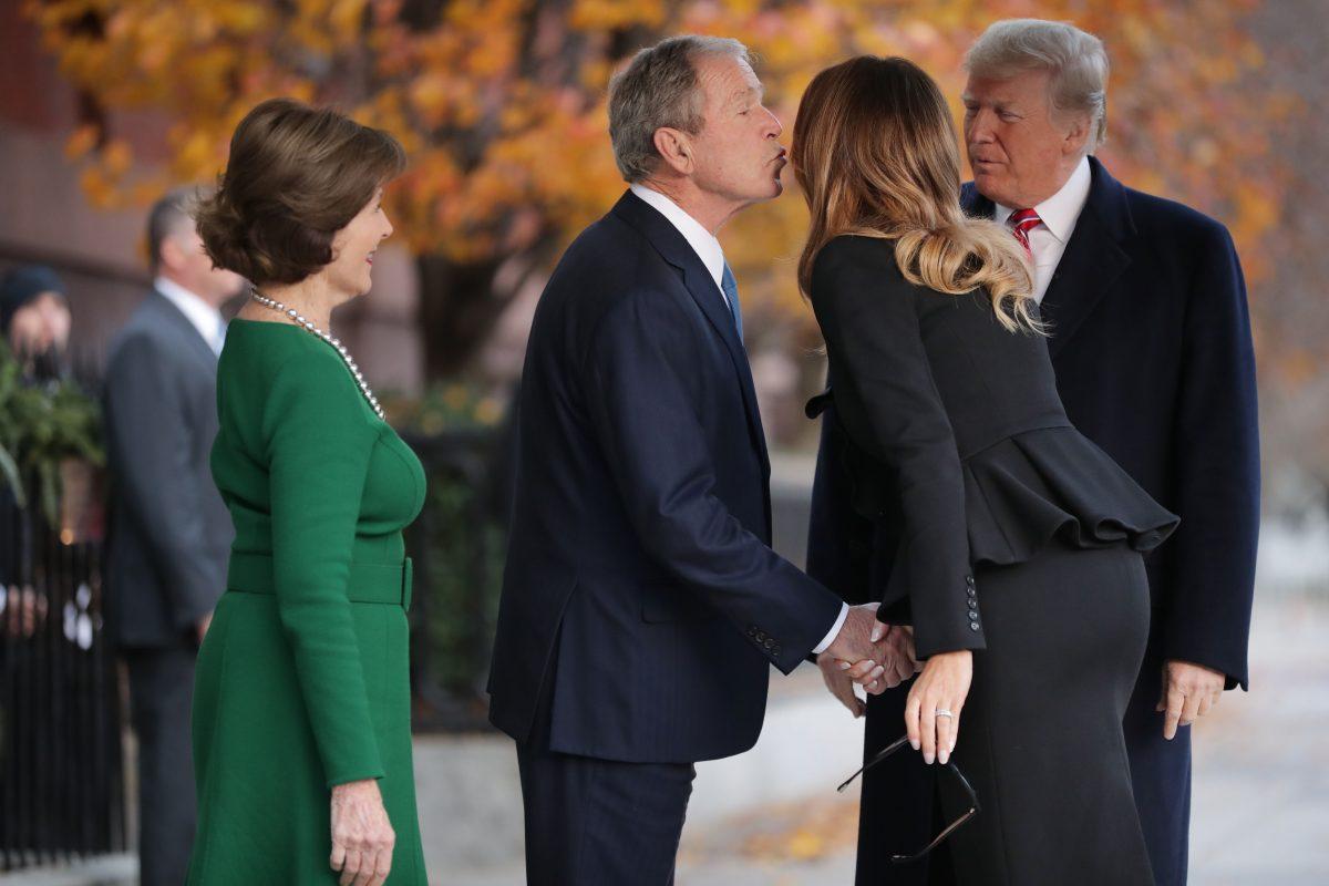 President Trump Visits ex-bush family