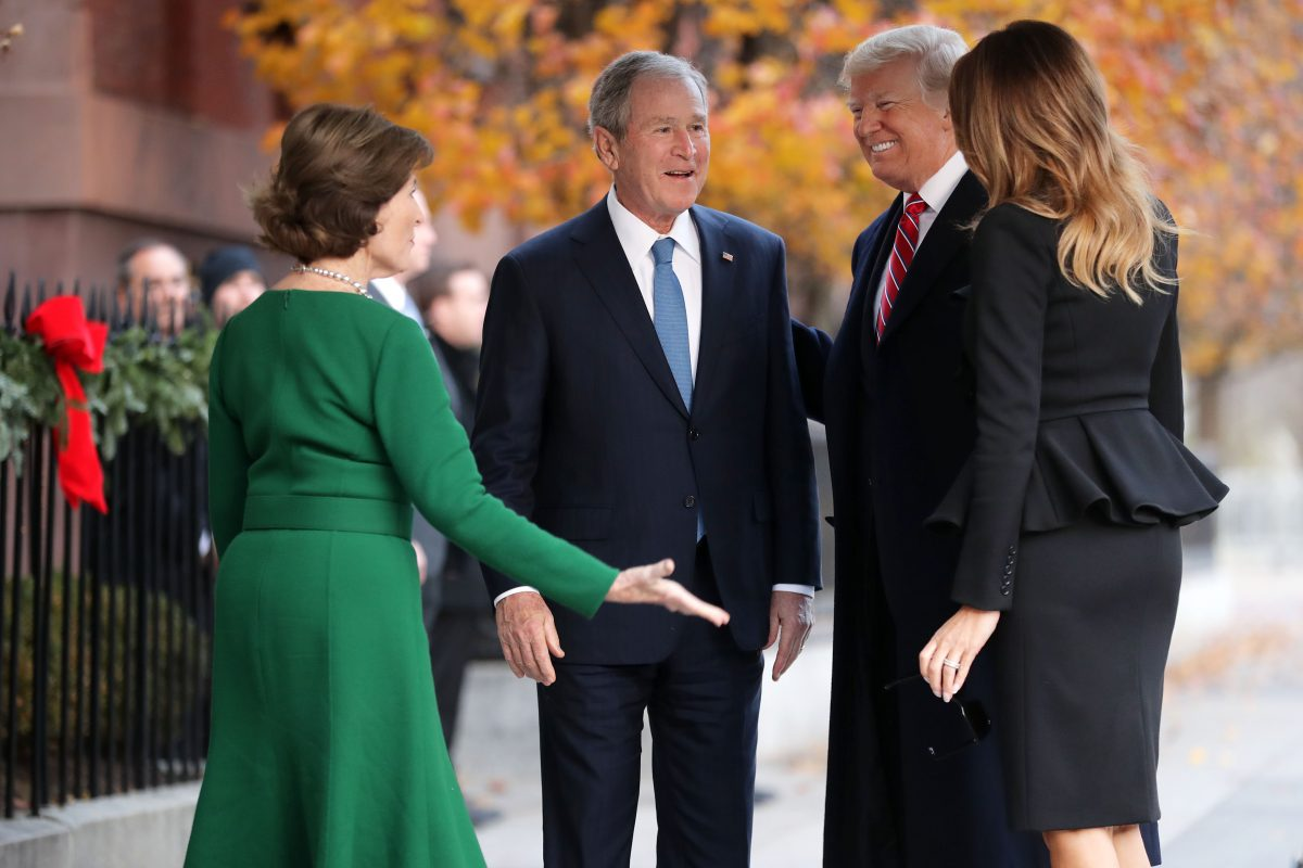 Laura Bush and former President George