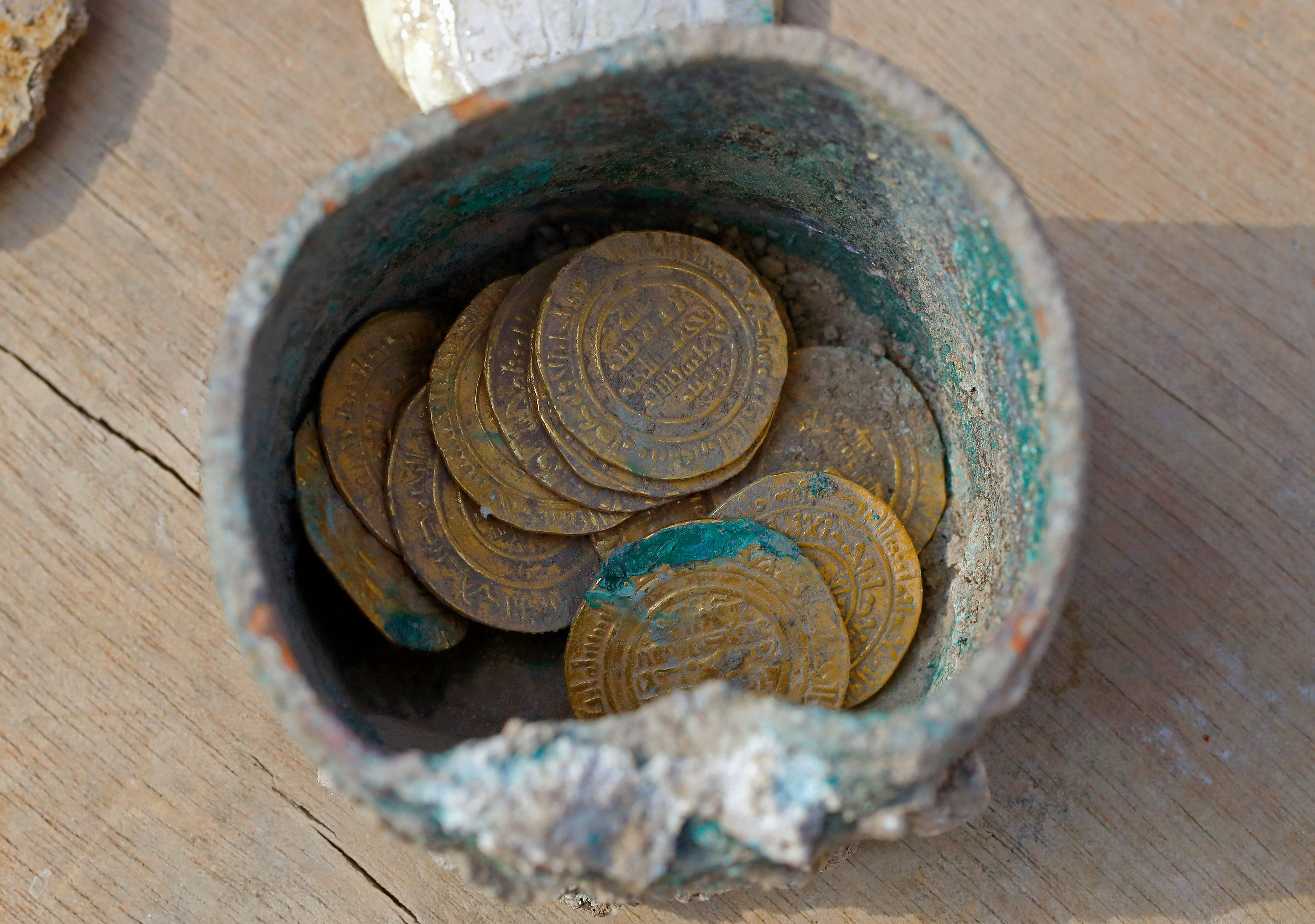 coins of israel found in old city