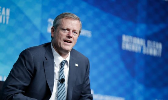 Massachusetts Governor Charlie Baker speaks during the National Clean Energy Summit 9.0 in Las Vegas, Nevada, on Oct. 13, 2017. (Isaac Brekken/Getty Images for National Clean Energy Summit)