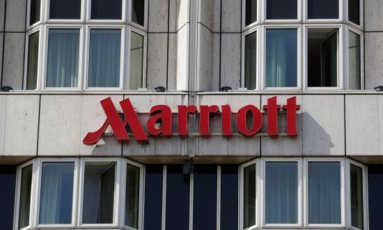 Logo of Marriott hotel is seen in Vienna, Austria Apr. 9, 2018. (Heinz-Peter Bader/Reuters)