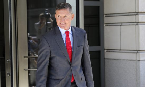General Michael Flynn, former National Security Advisor to President Donald Trump, departs the E. Barrett Prettyman United States Courthouse following a pre-sentencing hearing on July 10, 2018. (Aaron P. Bernstein/Getty Images)