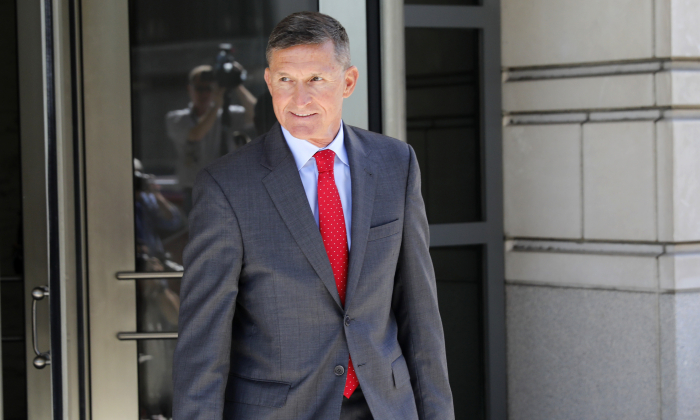 General Michael Flynn, former National Security Adviser to President Donald Trump, departs the E. Barrett Prettyman United States Courthouse following a pre-sentencing hearing on July 10, 2018. (Aaron P. Bernstein/Getty Images)